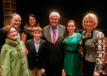 Гингрич и его семья посетили представление ShenYun в Атланте (штат Джорджия)
