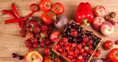Пища красных оттенков благотворно влияет на деятельность сердца и мозга