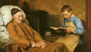 Альбрехт Самуэль Анкер. «Преданно читая деду»