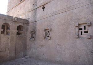 Гаммадион Христианских Православных Церквей, вырубленных из камня в Лалибеле, Эфиопия.